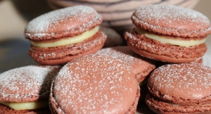 Red velvet macarons.