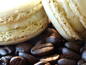 Coffee cream macarons from The Real Macaron Company
