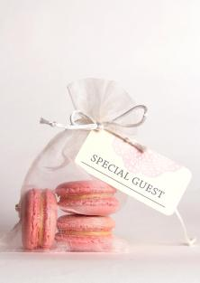 Macarons in Organza Favour Bags