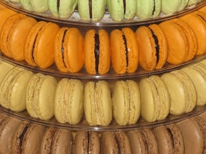 Macarons in a macaron tower