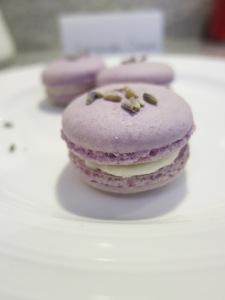 Lavender Cream Macarons