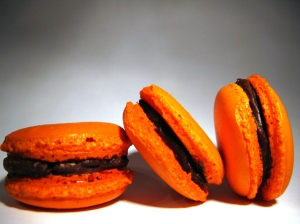 Ginger and orange macarons