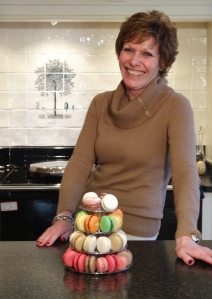 Gaye Perry of The Real Macaron Company at a Macaron Master Class