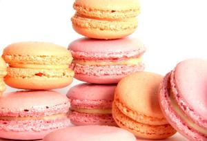 Pink and peach macarons from the Real Macaron Company