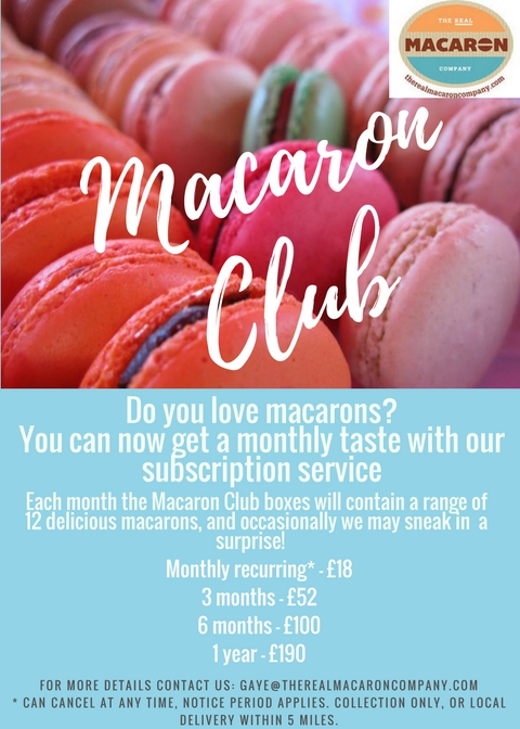 Do you love macarons- You can now get a monthly taste with our subscription service
